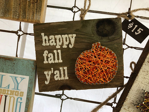 String Art - Happy Fall Y'all Pumpkin