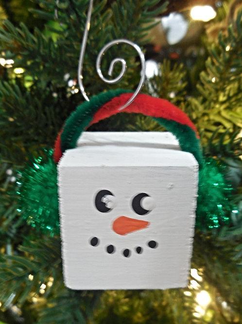 Snowman Ornament - square