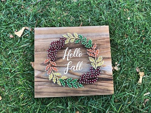 String Art - Hello Fall Wreath