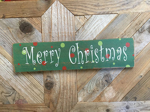 Sign - Merry Christmas Polka Dot