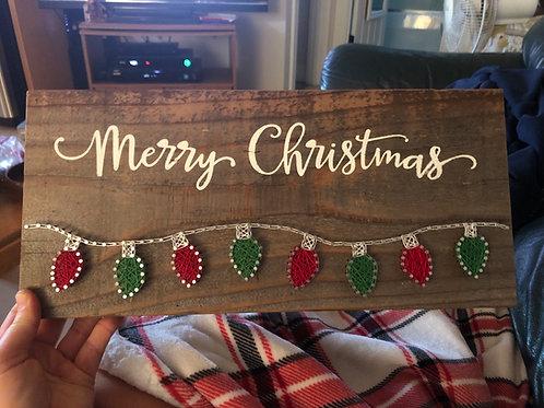 String Art - Merry Christmas Lights