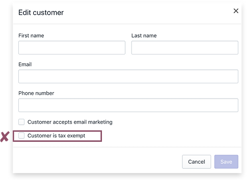Edit Customer Settings