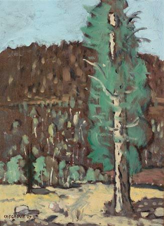 Stanley Cosgrove, Forêt près de la Tuque, 1967