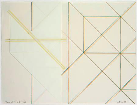 Yvon Cozic, Traces et Pliage II, 1980