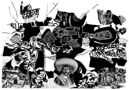 René Derouin, Zalce, Mendez à tout bête aux échographies de Viva Zapata 1948-1965-1985-2004, 2004
