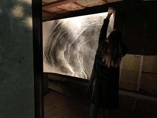 werk van Dina Dressen aan boord van de Atlas
