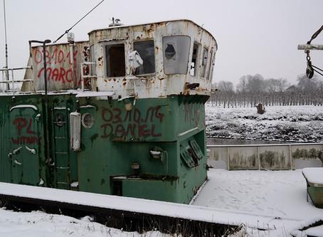 Terugblik: Koop van het schip en de tijd in Grünendeich, Duitsland (2015)