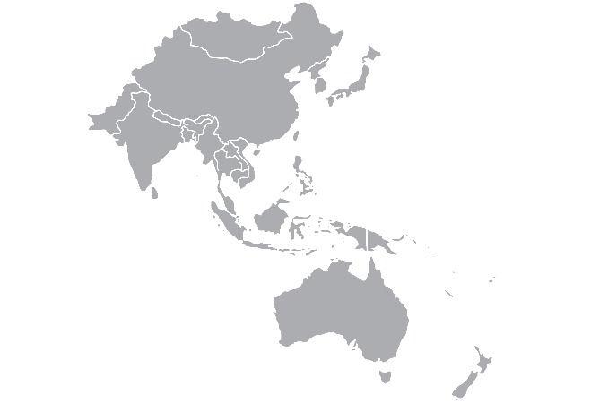 Gaichu ASIA Map Coverage