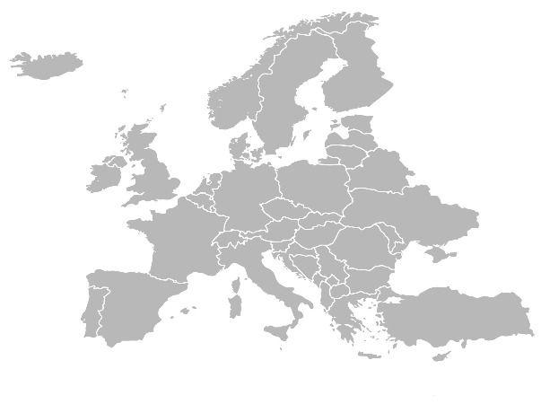 Gaichu EUROPE Map Coverage