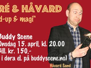 Håvard Sand med live-show på Buddy Scene 15. april