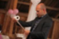 Håvard Sand som toastmaster i bryllup