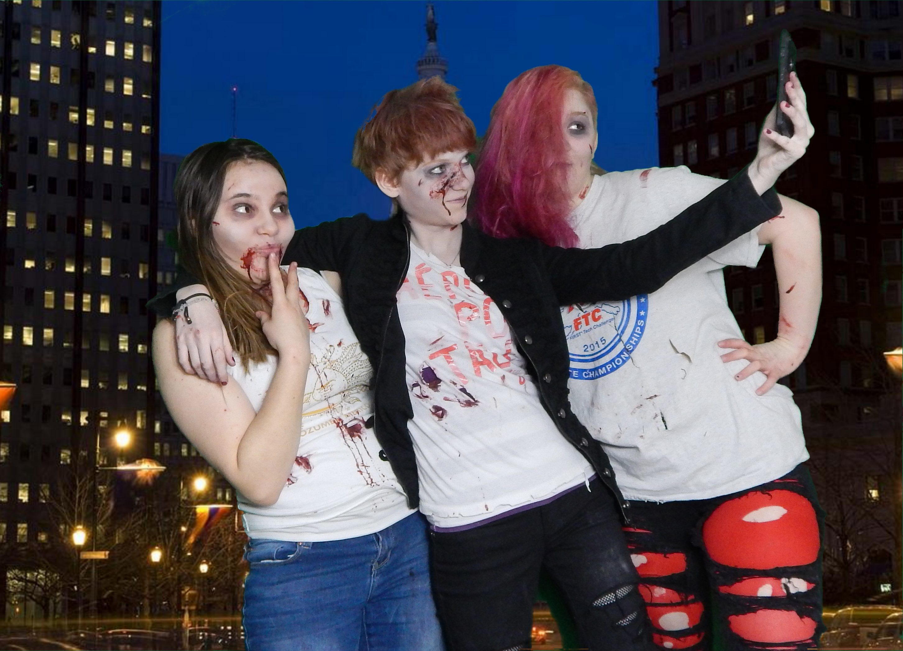 zombies on the town