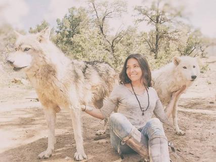 With Cinder & Riot at Wild Spirit Wolf Sanctuary
