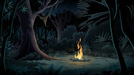 Jungle Camp (Night)