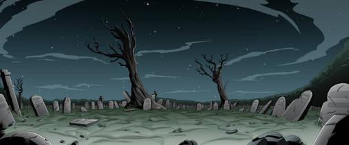 Graveyard Wide Shot