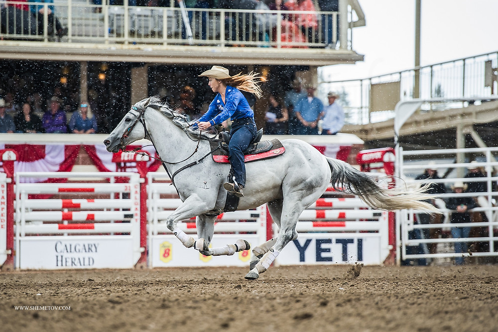 Calgary Stampede 2019. Barrel Racing