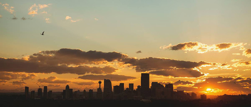 Calgary, Sunset.