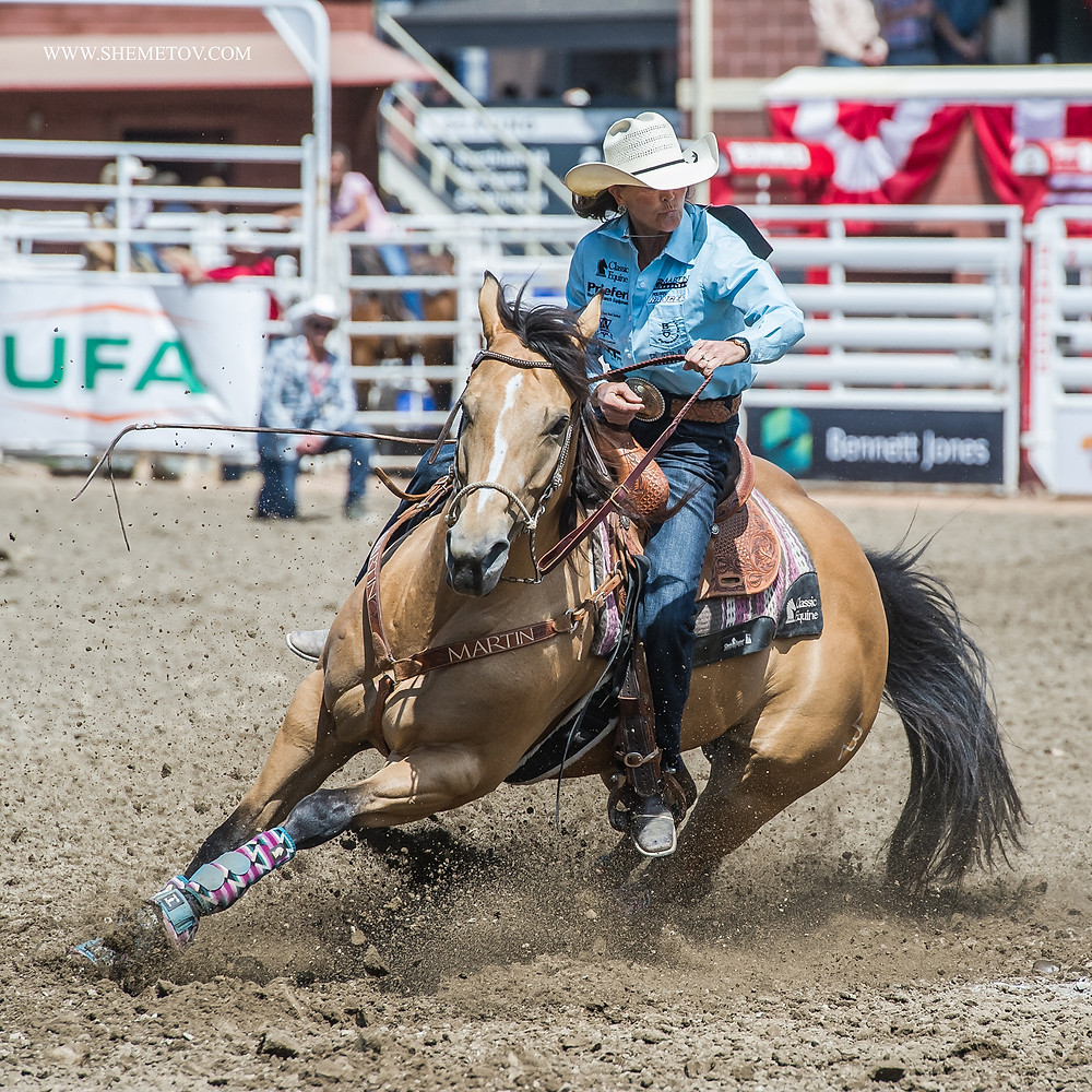 Calgary Stampede Rodeo. Barrel racing