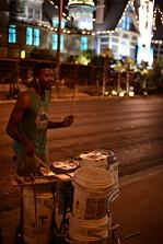 Las Vegas, city, artist, street music, drums, buckets, night, evening.jpg