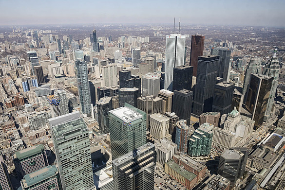 Toronto, Ontario. Canada, CN Tower, Downtown View from CN Tower, skyscrapers, heights.jpeg