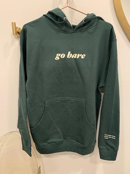GO BARE HOODIE - Alpine Green