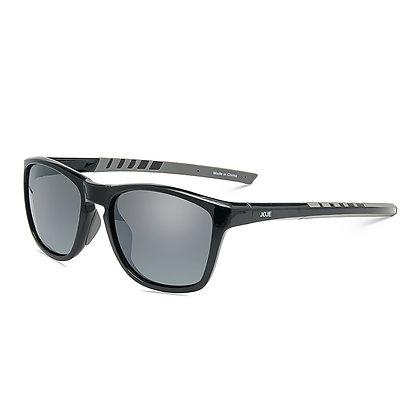 JOJEN Polarized Sports Sunglasses- Black Frame Grey Revo