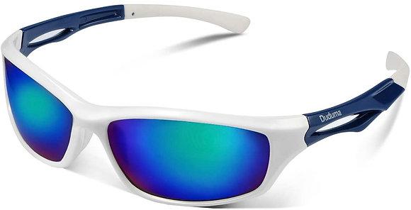 Duduma Polarized Sports Sunglasses- White/blue