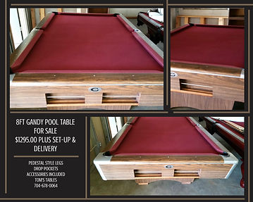 Tomstablespool Tables GALLERY - Gandy pool table