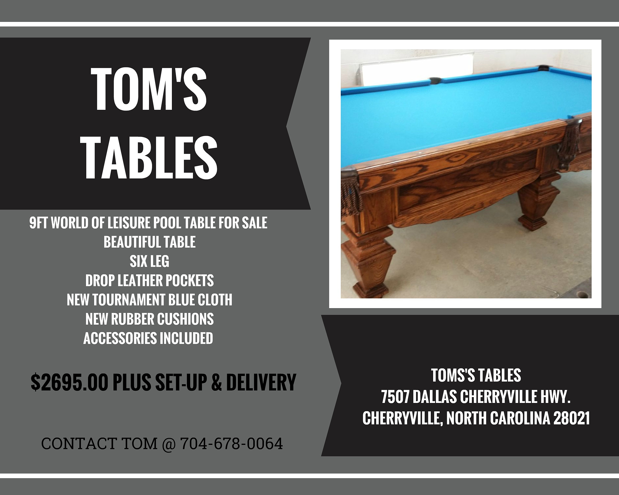 Pool table legs accessories for sale - 9ft World Of Leisure Pool Table For Sale Beautiful Table Six Leg