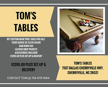 Tomstablespool Tables GALLERY - Pool table delivery and setup