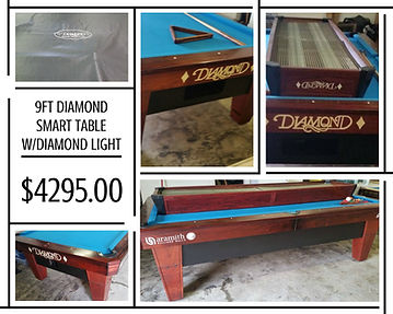 Tomstablespool Tables GALLERY - Diamond smart pool table
