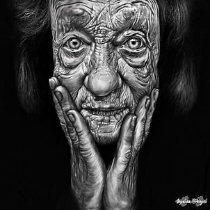 Digital Painting - Old Woman