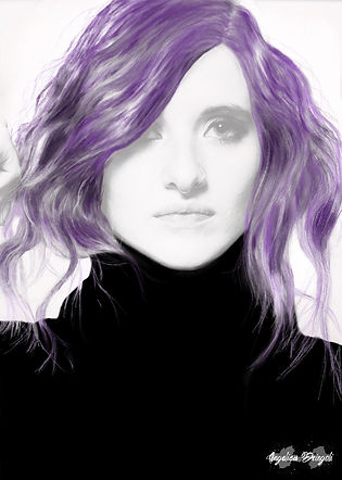 Angelica's Purple Hair - Digital Painting
