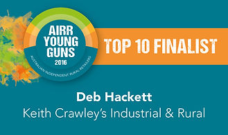 Deb Hackett Top 10 Finalist AIRR Young Guns 2016