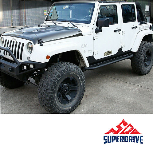 For Jeep Wrangler JK Off Road Side Steps Bars Side Armor Black