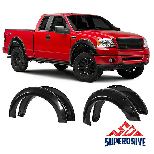 for F-150 2004-2008 Styleside Bed Smooth Black Pocket Riveted Clip-in ( Front )