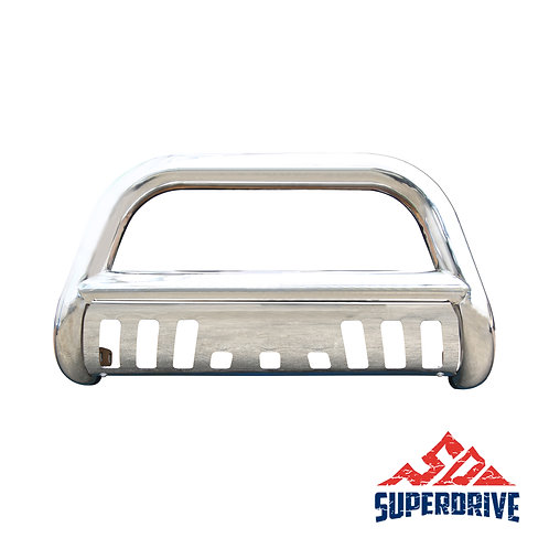 Stainless Steel Bull Bar Front Bumper with Skid Plate and Optional Light Holes