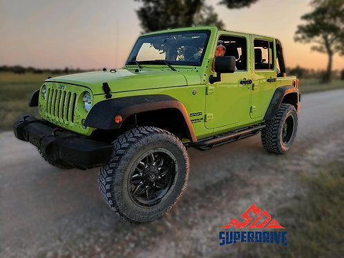 For Jeep Wrangler JL New Body Textured Armor Side Steps Bar Off-Road