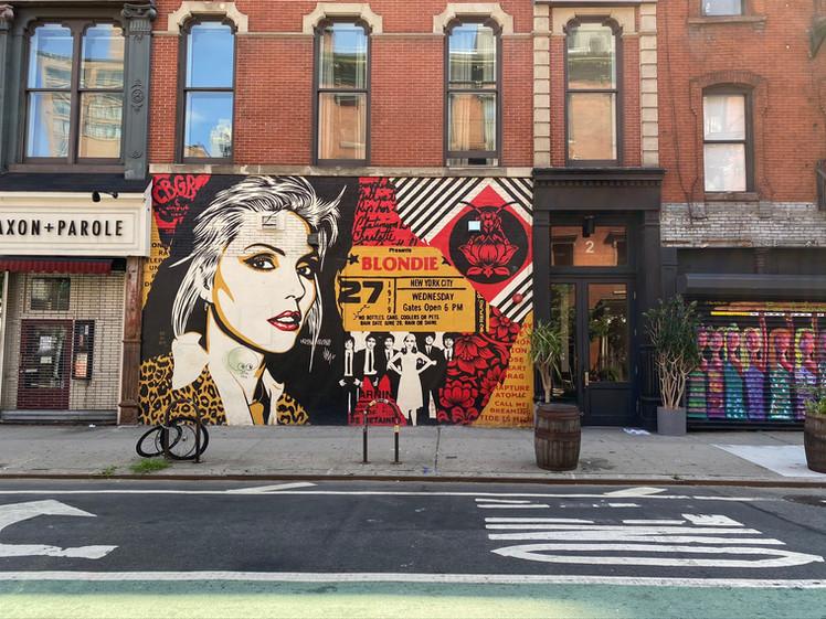 blondie mural