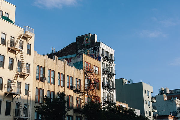 Buildings in the Bowery, New York City