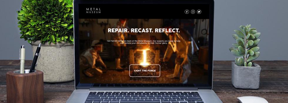 Metal Museum Landing Page