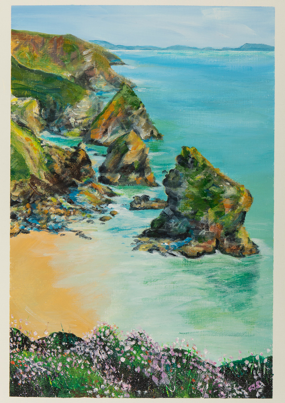 Bedruthan Steps from SWCP