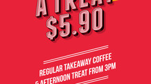 Coffee + Afternoon Treat Special