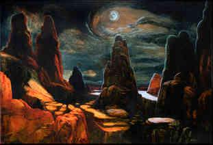 Moonlight in a Western Sky
