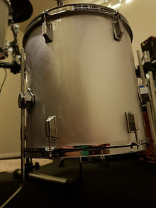 silver sparkle drum wrap