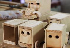Wooden Toy Trucks $16