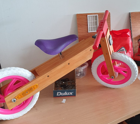 Child's balance Bike Painted $70