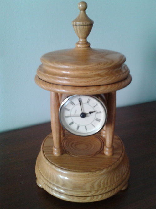 Turned Wooden Clock large