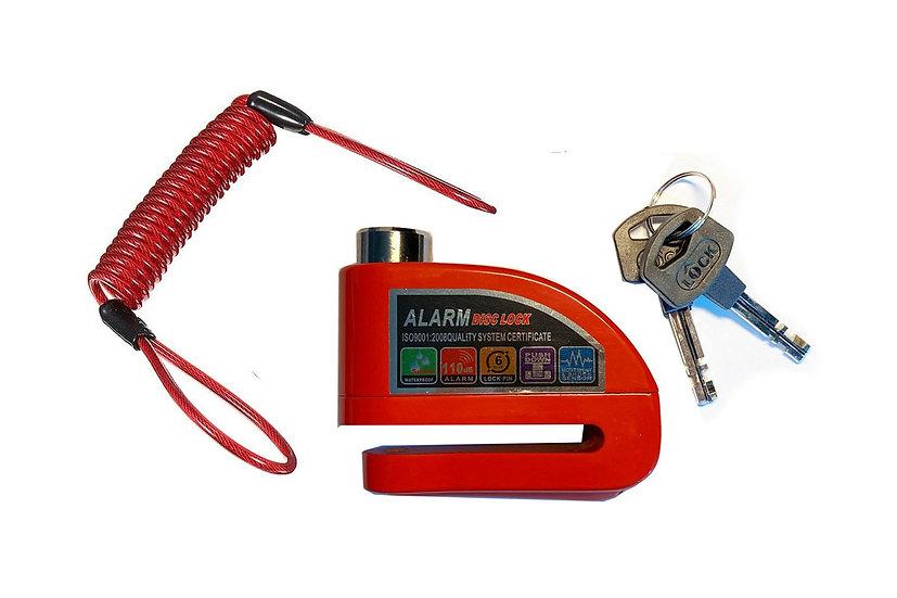 Disc lock alarm