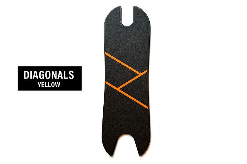 Footboard - Diagonals Yellow (Ninebot Max G30)